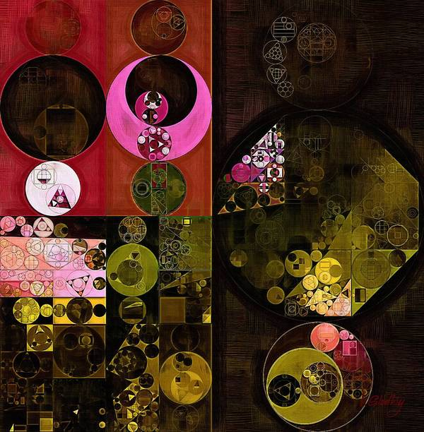 Abstract Painting Poster featuring the digital art Abstract Painting - Tonys Pink by Vitaliy Gladkiy