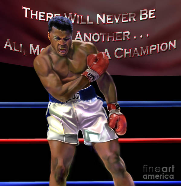 The Greatest Poster featuring the painting Ali - More Than A Champion by Reggie Duffie