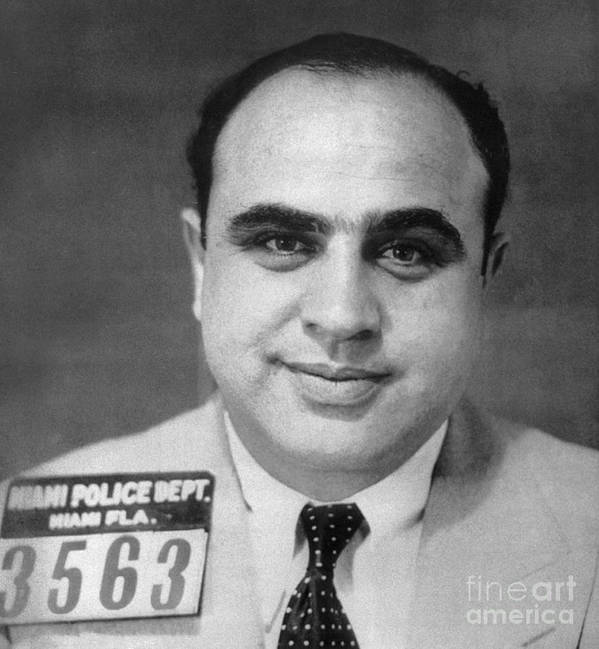 1930 Poster featuring the photograph Alphonse Capone (1899-1947) by Granger