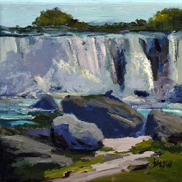 Niagara Falls Poster featuring the painting American Falls by J R Baldini