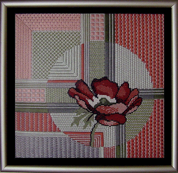 Thread Poster featuring the tapestry - textile Anemonie by Shirley Heyn