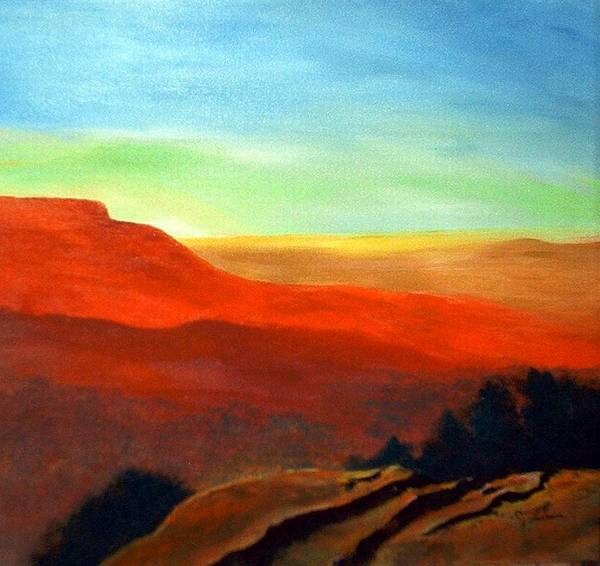 Landscape Poster featuring the painting Anew by Julie Lamons