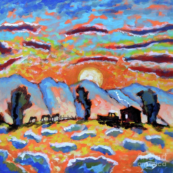 Arise And Shine Is A Painting About Waking Up To Meet A Great Day. Poster featuring the painting Arise And Shine by Kip Decker