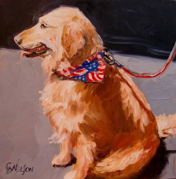 Dogs Poster featuring the painting Art Show Dog 2 by Carol Nelson
