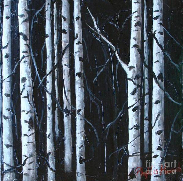 Trees Poster featuring the painting Aspen Grove by Phyllis Howard