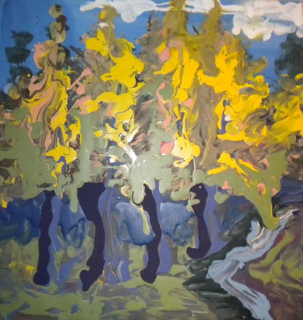 Alzheimer's Poster featuring the painting Autumn In Montreal By David by Art Without Boundaries