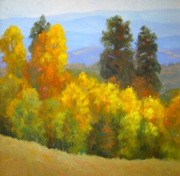 Autumn Poster featuring the painting Autumn Vista by Bunny Oliver