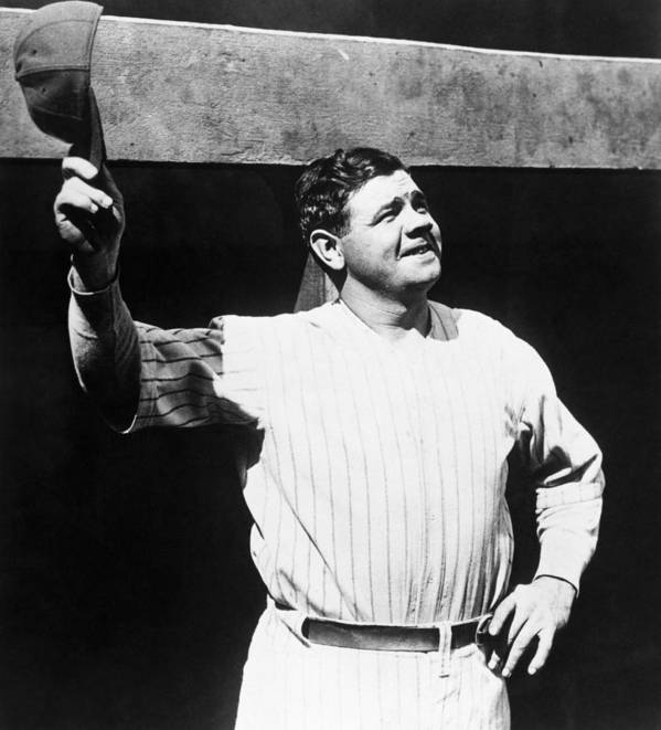 1930s Candid Poster featuring the photograph Babe Ruth 1895-1948, American Baseball by Everett