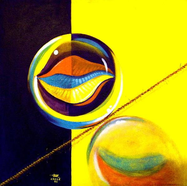 Surrealism Poster featuring the painting Balancing Act I by Roger Calle