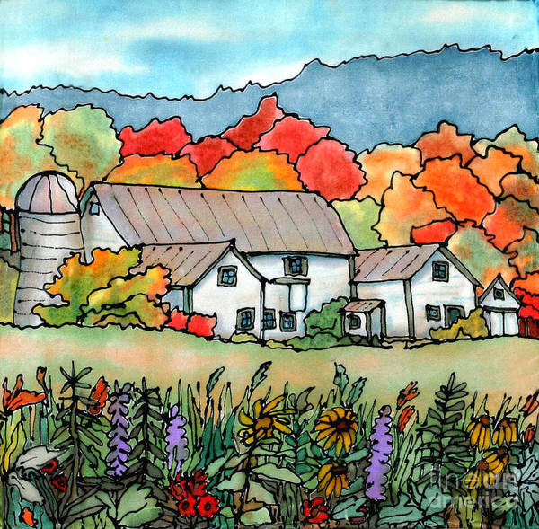 Barn Poster featuring the painting Barn In Pomfret Vermont by Linda Marcille