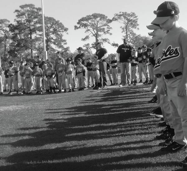 Baseball Poster featuring the photograph Baseball's New Season's Shadow by WaLdEmAr BoRrErO