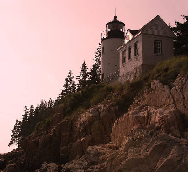 Acadia National Park Poster featuring the photograph Bass Harbor Light by Brian M Lumley