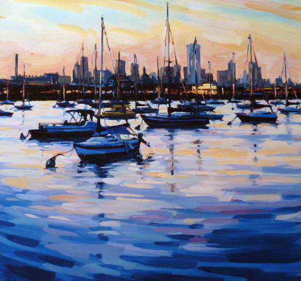 Seascape Poster featuring the digital art Bay View II by Shelby Keefe