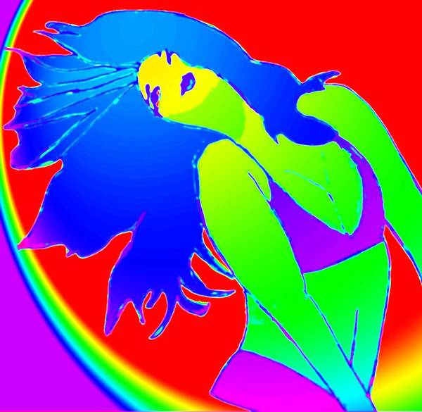 Woman Poster featuring the drawing Beauty If A Rainbow by Jennifer Ott