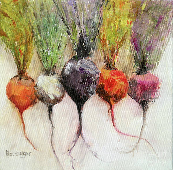 Beets Poster featuring the painting Beets II by Paint Box Studio