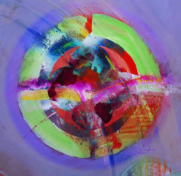 Big Bang Poster featuring the painting Big Bang by Charles Stuart
