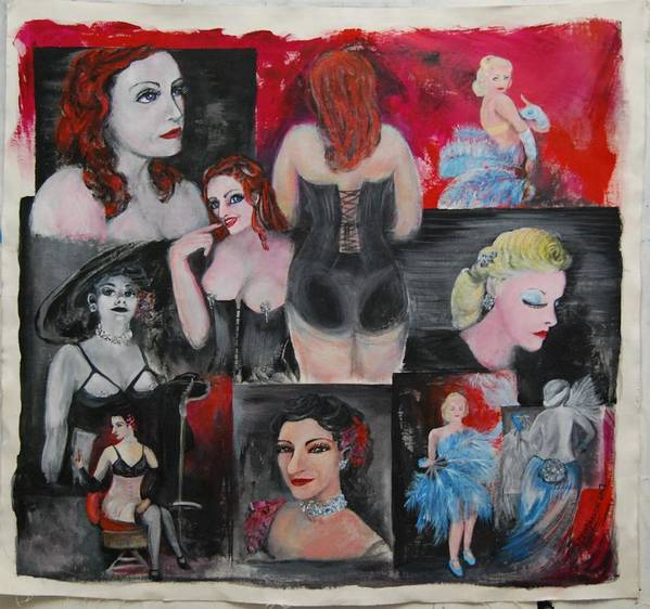 Portraits Poster featuring the painting Big City Burlesque 1 by Amy Stewart Hale