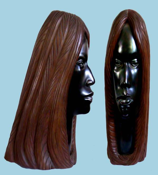 Wood Poster featuring the sculpture Black Beauty by Jorge Gomez Manzano