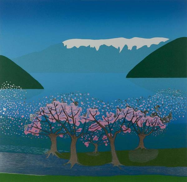 Landscape Poster featuring the mixed media Blossom In The Hardanger Fjord by Jarle Rosseland
