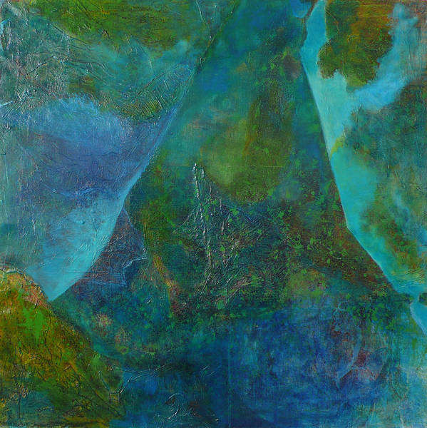 Under Sea Landscape Poster featuring the print Blue .9. by Meltem Quinlan