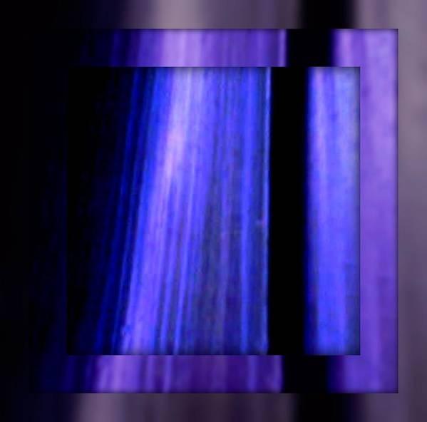 Joan Kamaru Poster featuring the digital art Blue Column Art by Joan Kamaru