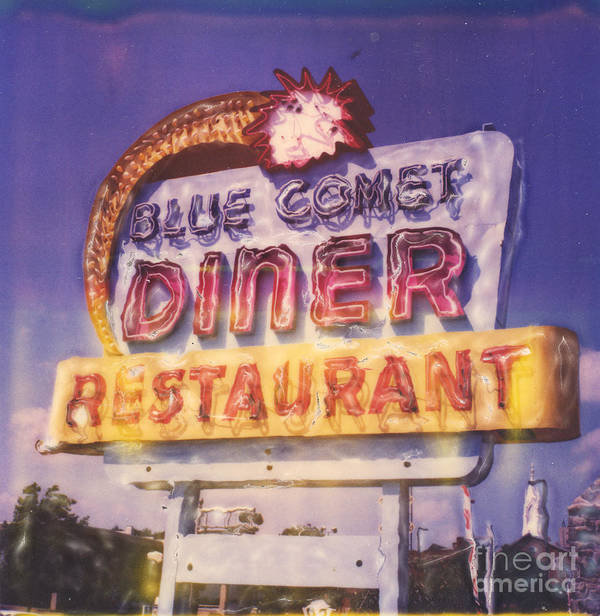 Polaroid Poster featuring the photograph Blue Comet Diner - Hazelton by Steven Godfrey