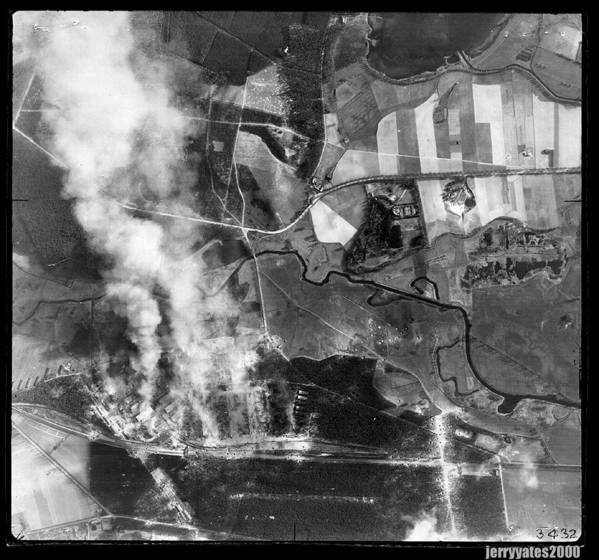 Aerial View Poster featuring the photograph Bomb Strike by Gerard Yates