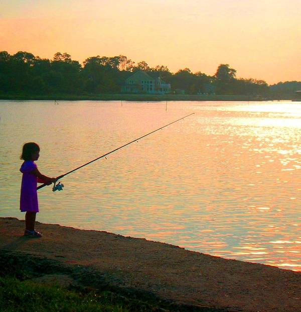 Fishing Poster featuring the photograph Born To Fish by Caroline Urbania Naeem