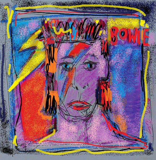 Bowie Poster featuring the painting Bowie by Samuel Zylstra