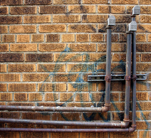 Pipes Poster featuring the photograph Brighton Pipes by Bryan Hochman