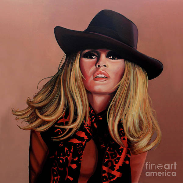 Brigitte Bardot Poster featuring the painting Brigitte Bardot Painting 1 by Paul Meijering