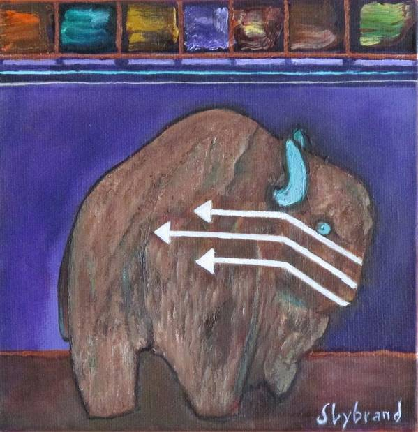 Fetish Poster featuring the painting Buffalo Fetish by Judy Lybrand
