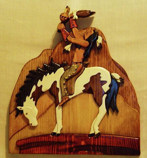 Intarsia Poster featuring the sculpture Calling The Great Spirit by Russell Ellingsworth