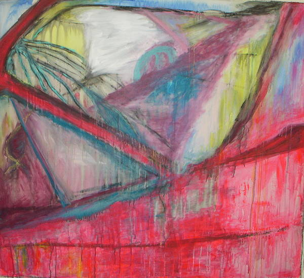 Abstract Poster featuring the painting Car Crash Highway 21 by Moby Kane
