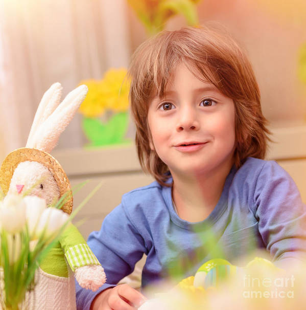 Baby Poster featuring the photograph Celebrating Easter Holiday by Anna Om