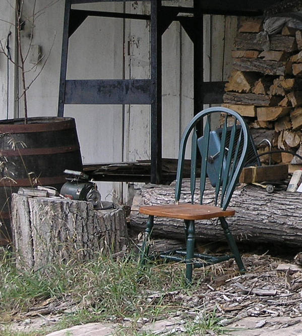 Poster featuring the photograph Chair In The Shed by Janis Beauchamp