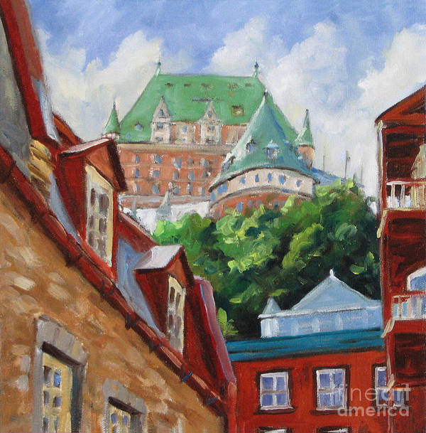 Chateau Frontenac Poster featuring the painting Chateau Frontenac by Richard T Pranke