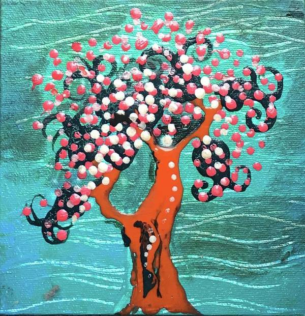 Tree Poster featuring the painting Cherry Blossom by Regina Jeffers