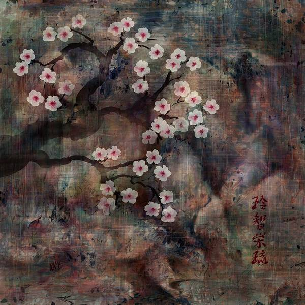 Landscape Poster featuring the digital art Cherry Blossoms by William Russell Nowicki