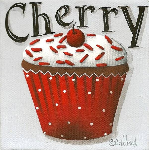 Art Poster featuring the painting Cherry Celebration by Catherine Holman