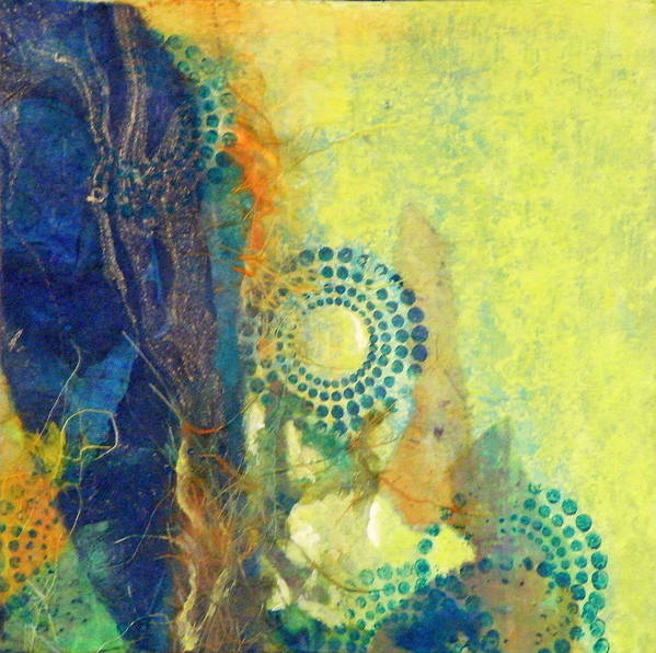 Mixed Media Poster featuring the painting Circles 1 by Tara Milliken