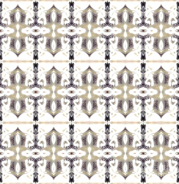Abstract Pattern Poster featuring the digital art City by Elisabeth Skajem Atter