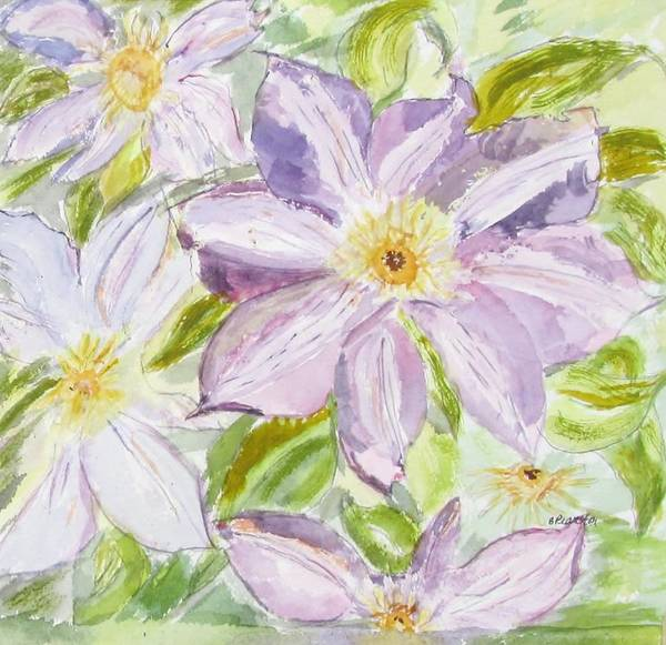 Flower Poster featuring the painting Climatis by Barbara Pearston