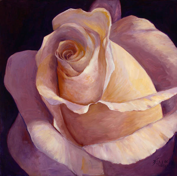 White Rose Poster featuring the painting Close to Perfection by Billie Colson