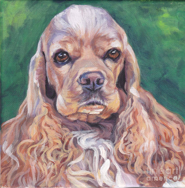 American Cocker Spaniel Poster featuring the painting Cocker Spaniel by Lee Ann Shepard