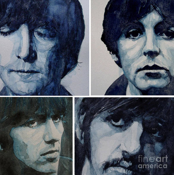 The Beatles Poster featuring the painting Come Together by Paul Lovering