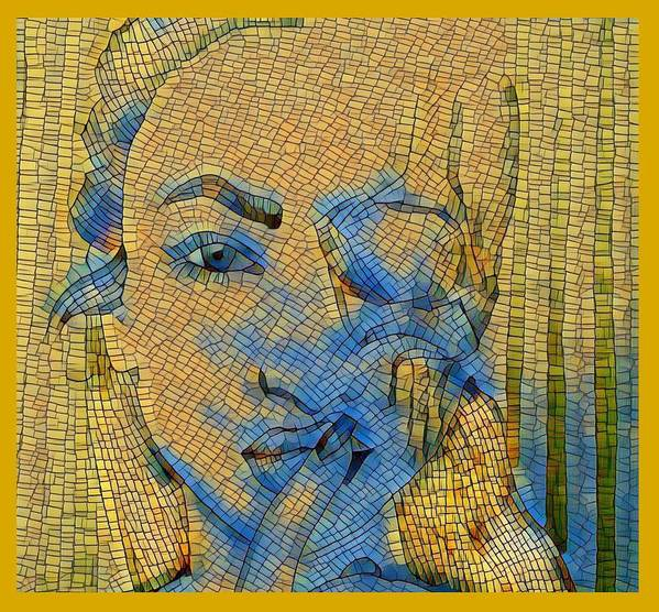 Pop-art Poster featuring the digital art Complete Absence Of Sound by Sergey Avetisyan