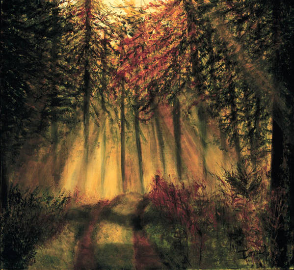 Country Road  Poster featuring the painting Country Road by Ione Citrin