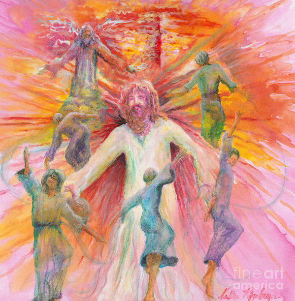 Jesus Poster featuring the painting Dance of Freedom by Nadine Rippelmeyer