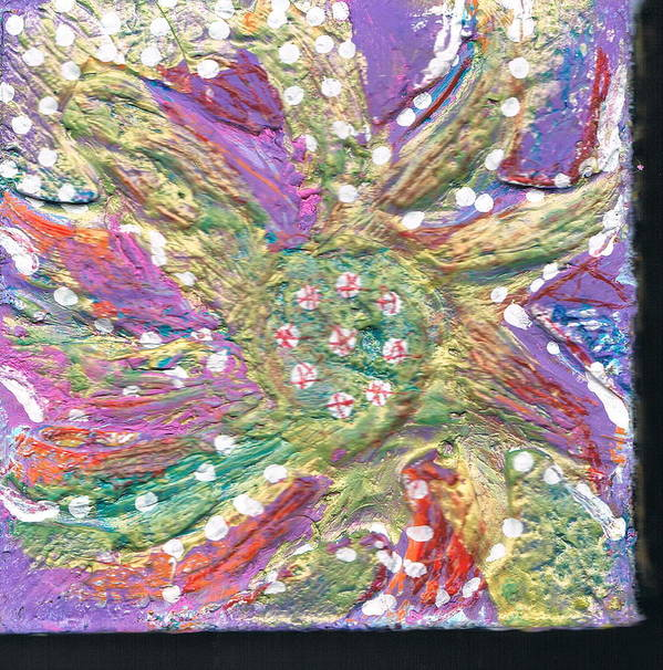 Blossom Poster featuring the mixed media Dancing Flower Blossom by Anne-Elizabeth Whiteway